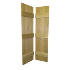 Solid Oak Ledged Rustic Door - Bi Fold V-Groove Joints