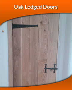 Solid Oak Ledged Doors