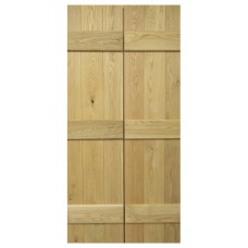 Oak 3 Ledged Rustic Door - Door Pairs V-Groove Joints
