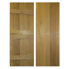 Solid Oak Ledged Rustic Door - Rivelin V-Groove Profile