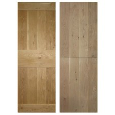 Oak Rustic Oak Cottage Door - Stable Door V-Groove